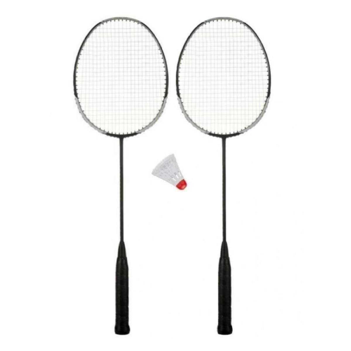 Pack of 2 Badminton Rackets with free shuttle for outdoor sports