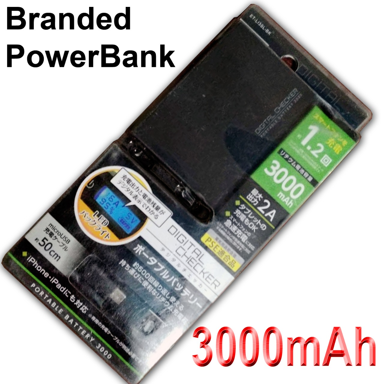3000 mah Power Bank for all mobile phones