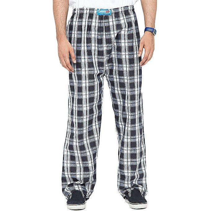 Multicolored Casual Checkered Trousers For Men