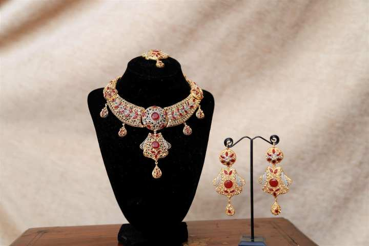 Golden and Red Jewelry Set