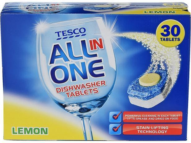 Tesco Aio Dishwasher Tablets Lemon 30s