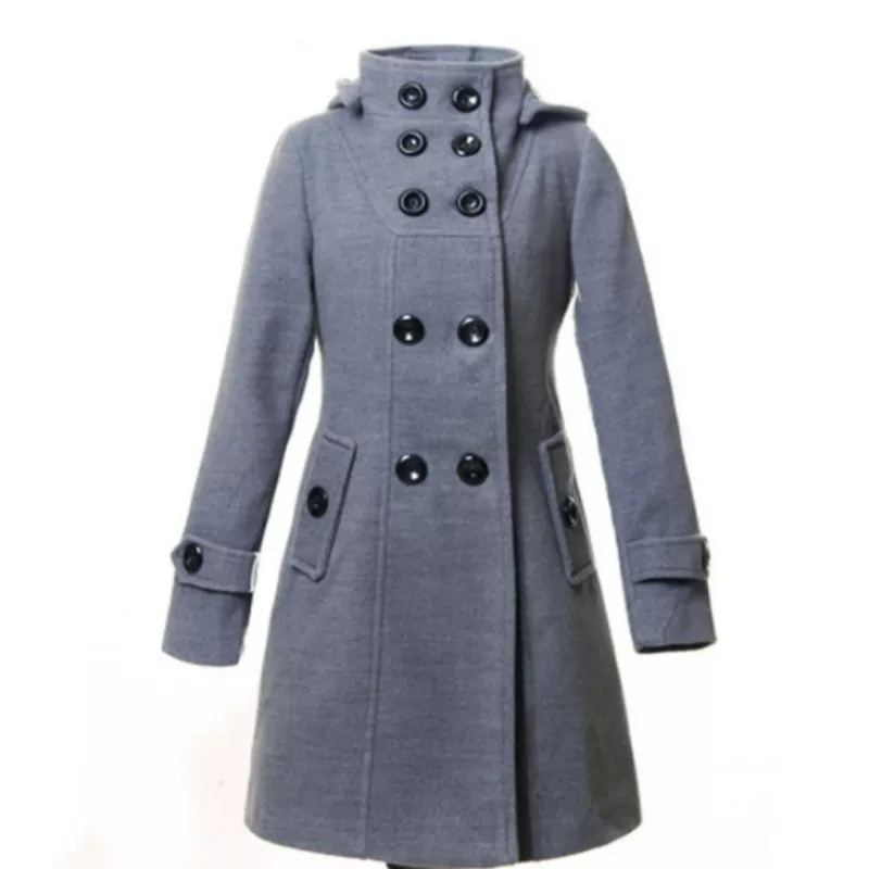 Winter Hooded Buttonup Warm Coat For Women By ZAIN ABID Traders
