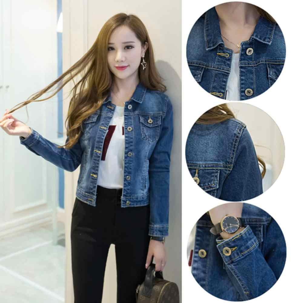 Dark Blue With Slow Sky Blue Shade Denim Stretchable Jacket Winter For Her