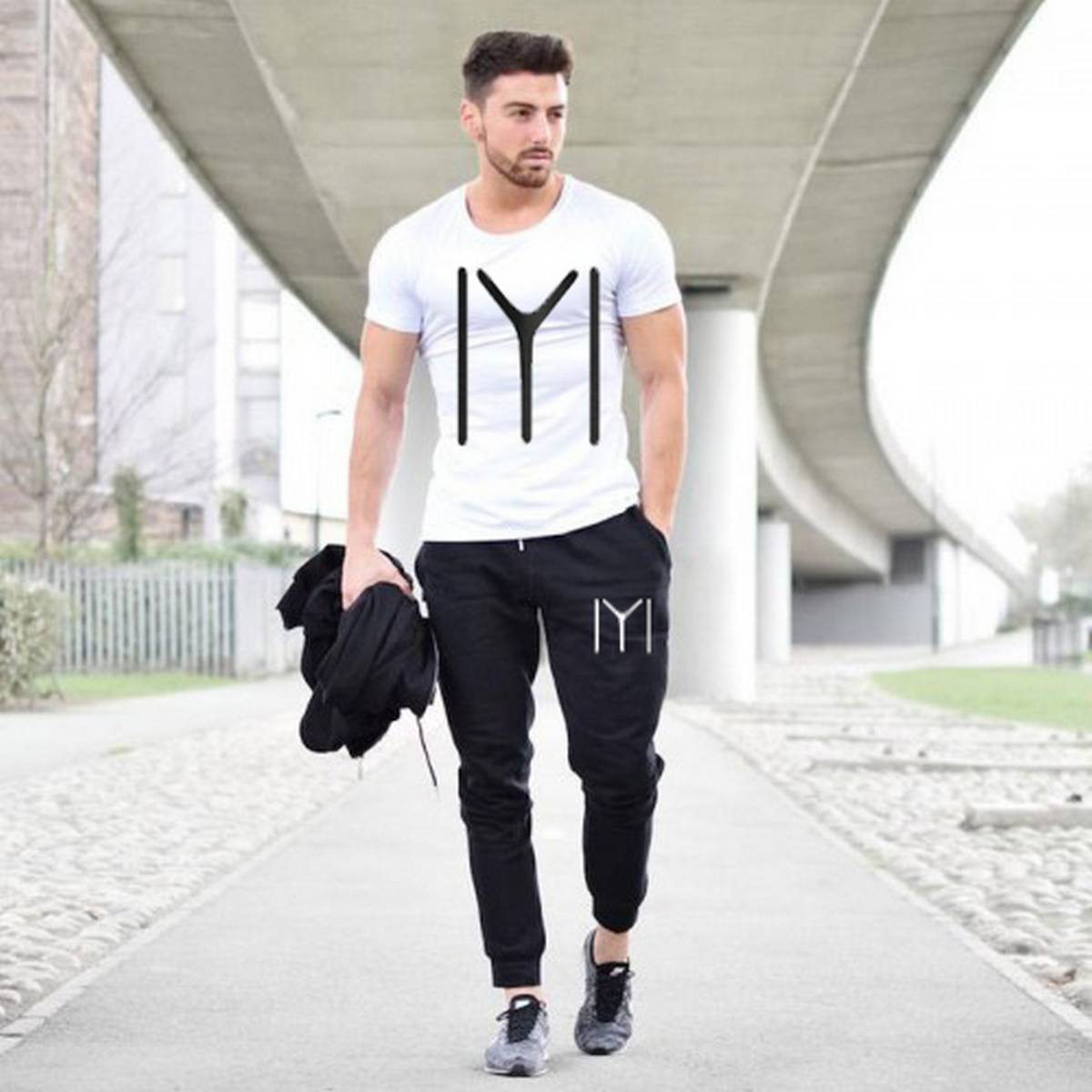 Kayi Men stylish T shirt and trouser Gym wear and comfortable