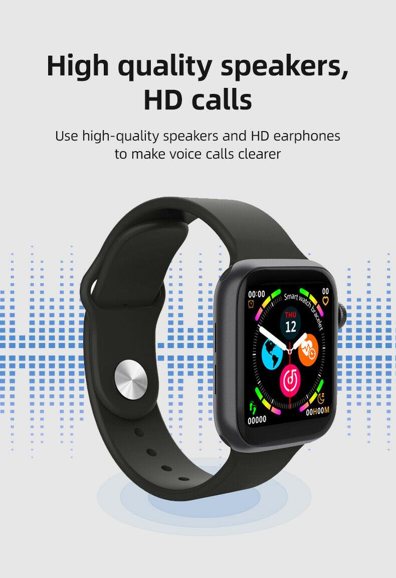 LD5 Smart Watch Men Bluetooth Call, Music Play Heart Rate Monitor Fitness Tracker BT Make Calls women and men Bluetooth Smartwatch - Black