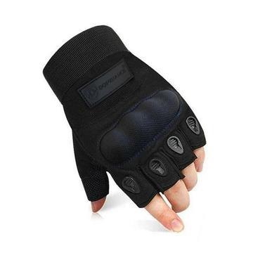 Biker Half Finger Gloves for Men outdoor Hard Tortoise Shell