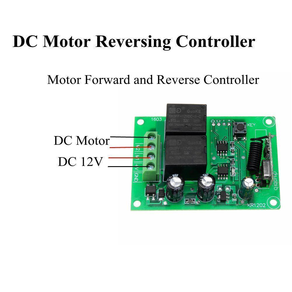 DC12V 2 Channel Remote Control Switch Relay Module DC Motor Reversing  Controller