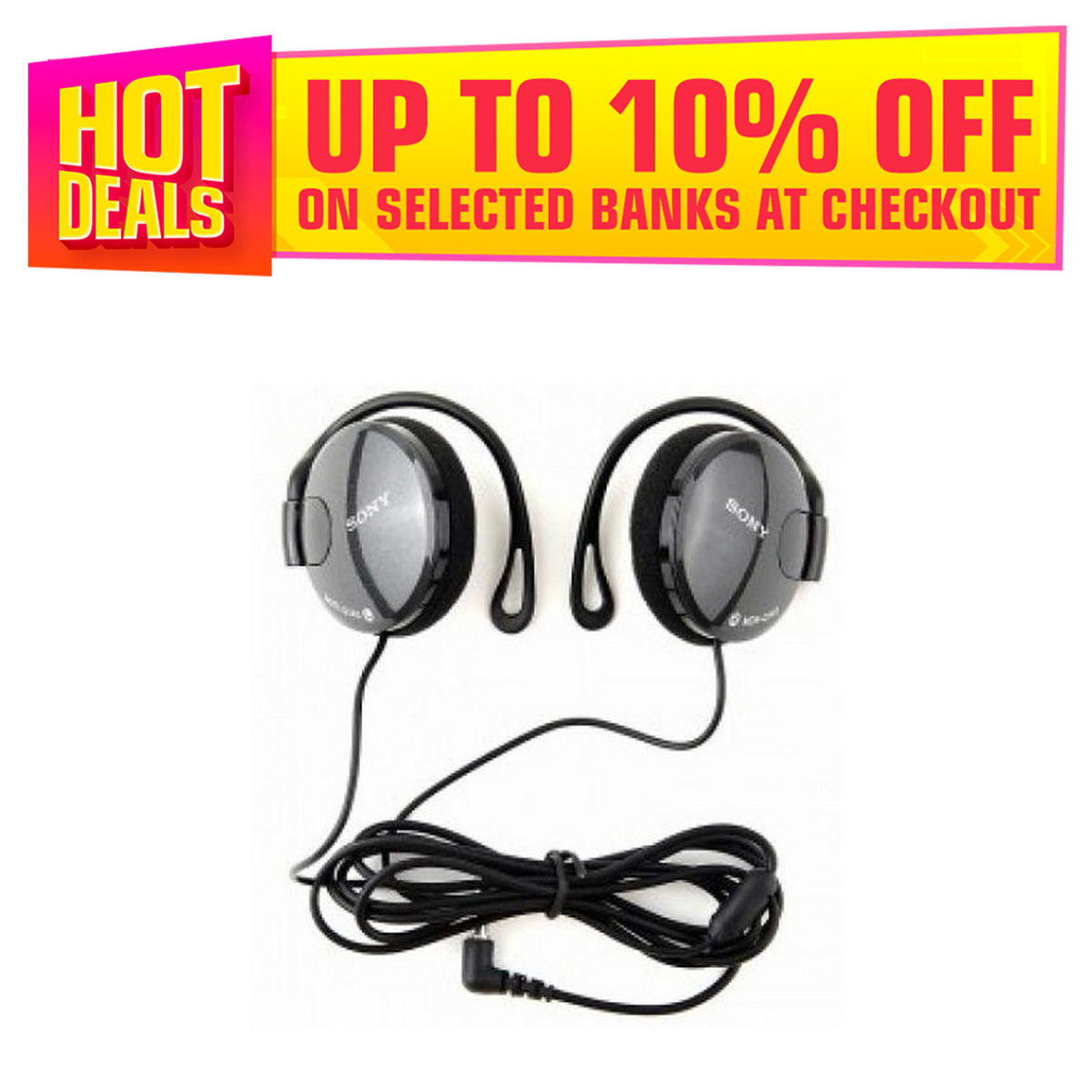 Woofer Headphones With Earhook Good Quality Sound - Ear Loops Design And Can Be Hang On The Ears - Stylish