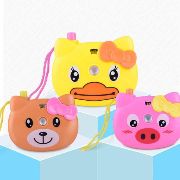 Creative cartoon animal projection camera toy children luminous camera