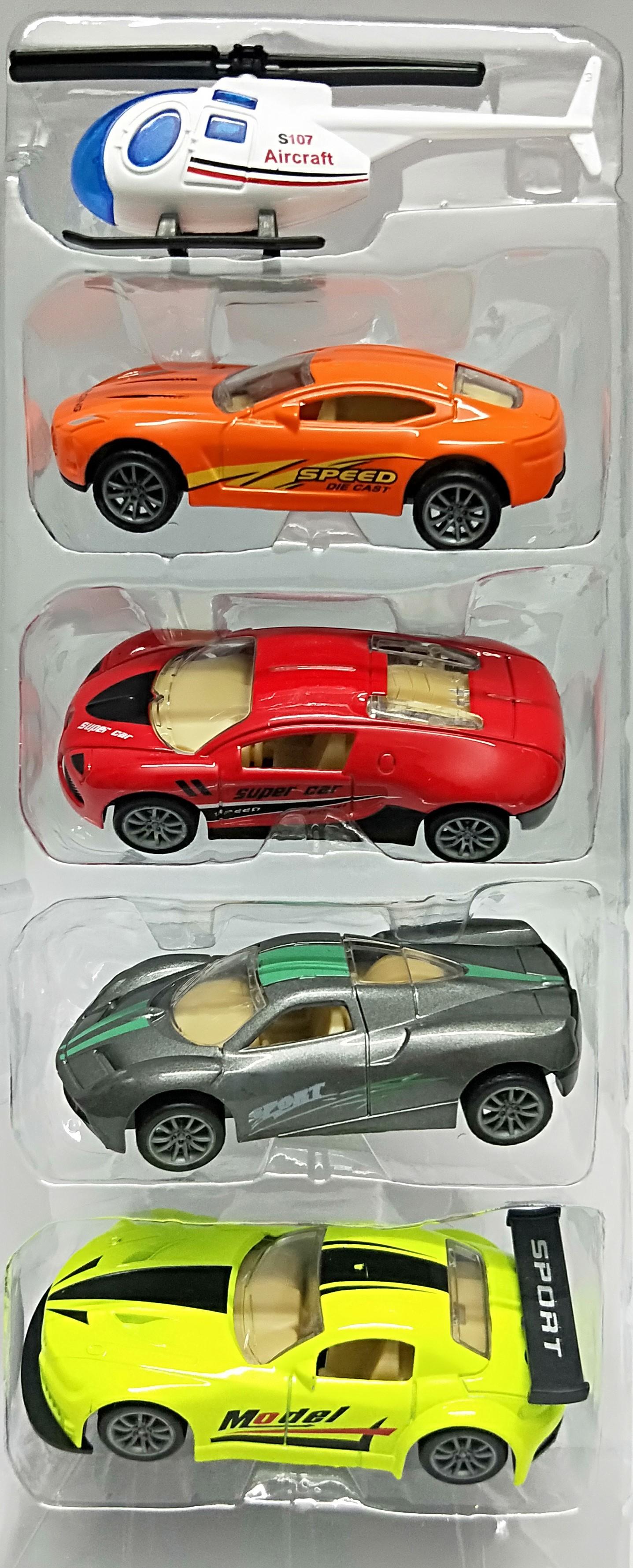 Pack Of 5 Die Cast Super Speed Metal Racing Diecast Car Toys Kids & Boys | Toy Metal Car | Pull Back and Die cast | Multi Color Car Die Cast car