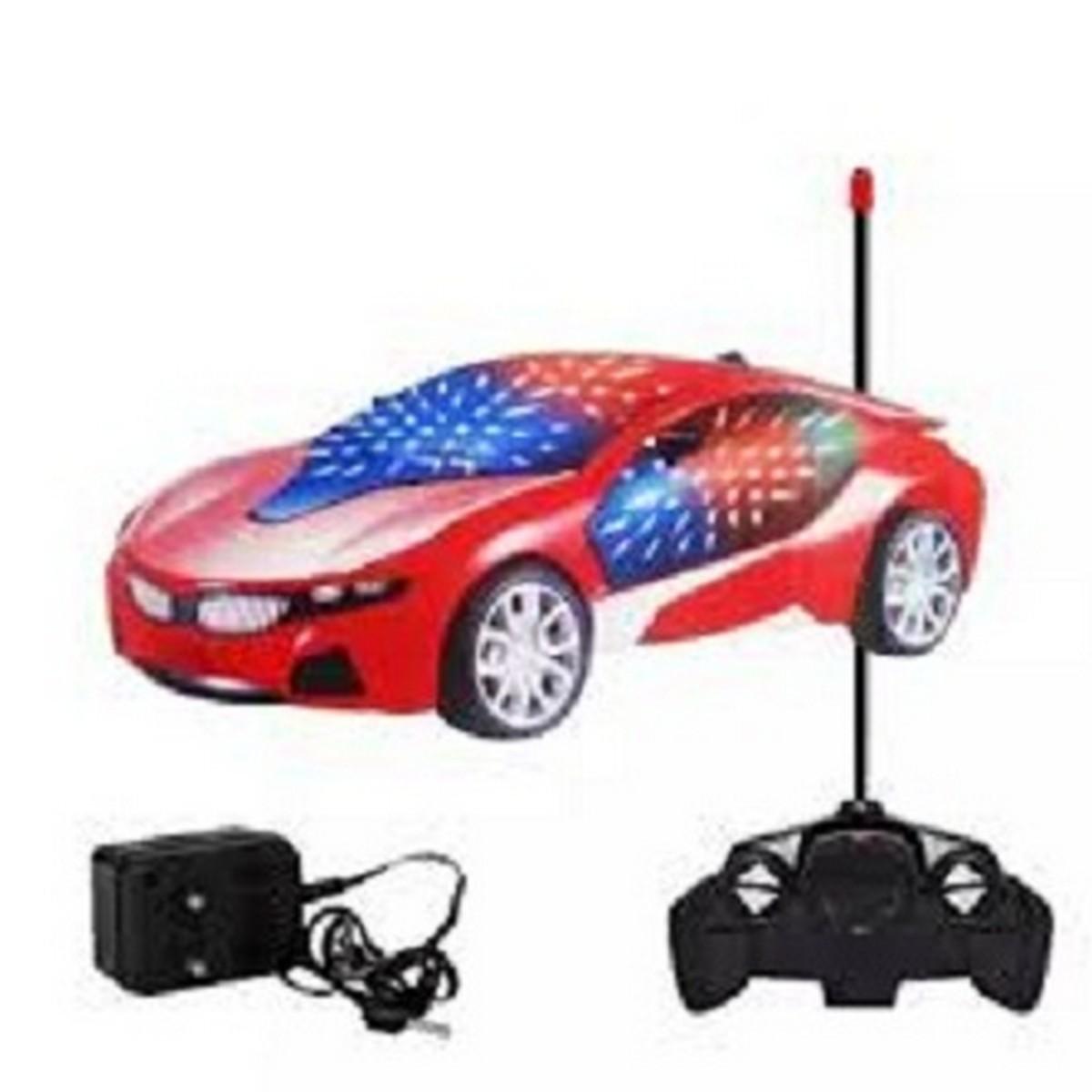 Kids Remote Control Car Charging 3D Light Flashing Car Multi Colour - KRCC