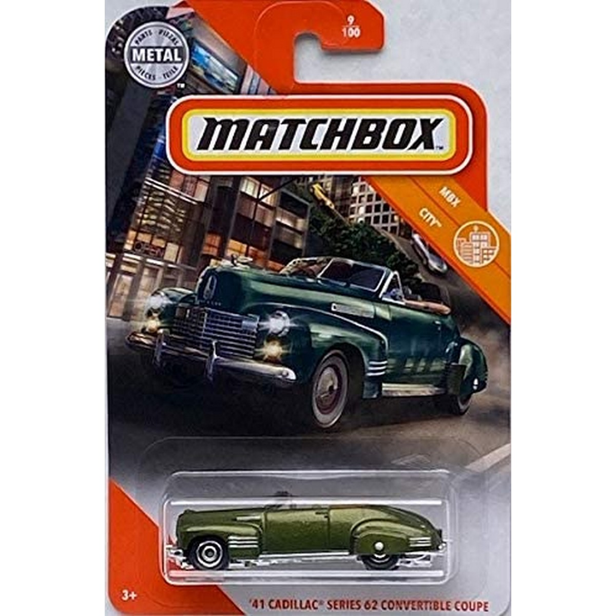 Matchbox 41 Cadillac Series 62 Convertible Coupe - 1/64 scale diecast model