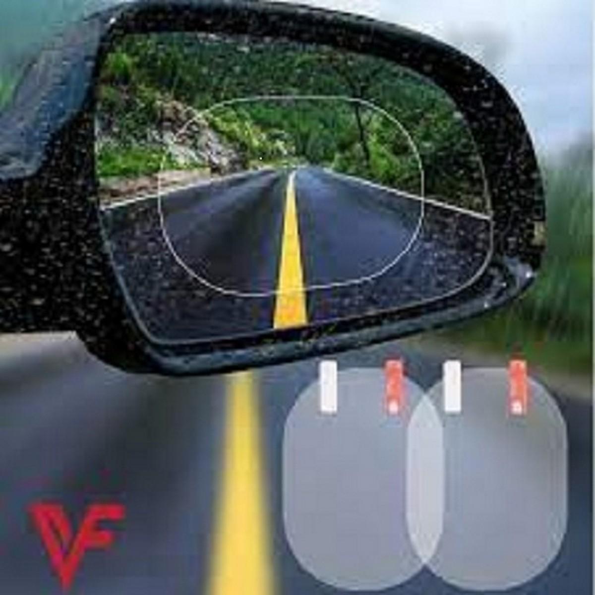 Anti Fog sticker for car 2 pcs Car Rear View Mirror Protective Film 95 x 135 mm & 170 x 200 mm, Anti Dazzle Waterproof Rainproof Anti Fog Car Film Side Glass Side Mirror