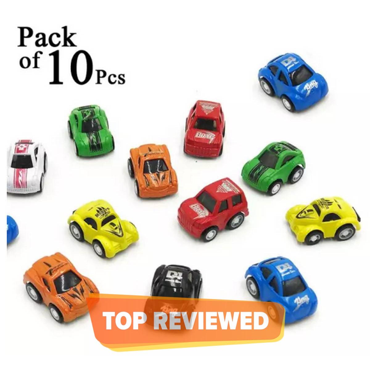 Pack of 10 - Pull Back Mini Car Set For Kids & Boys Toys