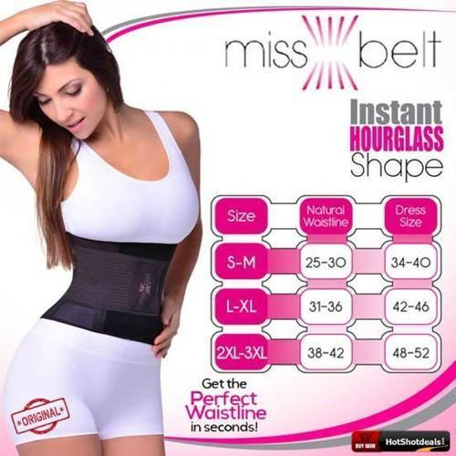 b9cb60d94c Miss Belt Belt Training Belt Instant Hourglass Shape Look Slimmer Belt  Cincher Tummy Body Shaper Fitness