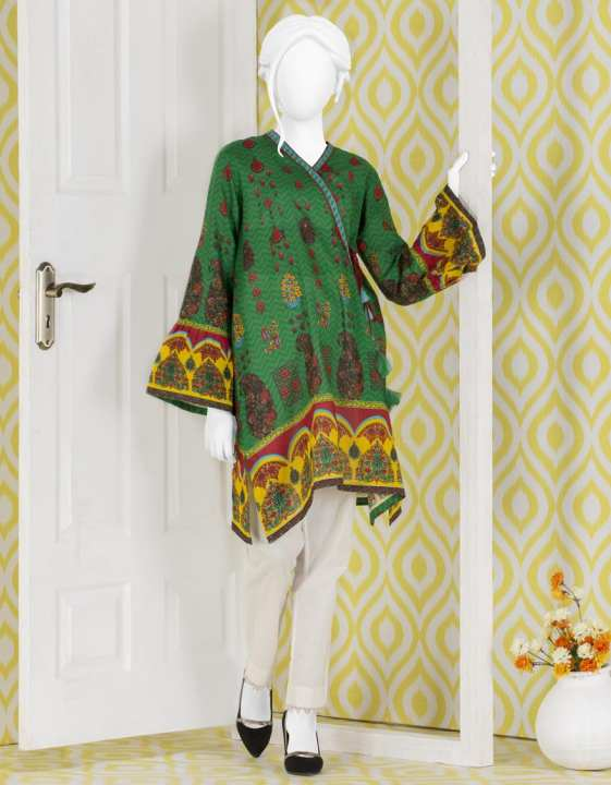 Junaid Jamshed Summer Collection 2019 Vol 2 Green Unstitched - 1 PCs Suit for Women