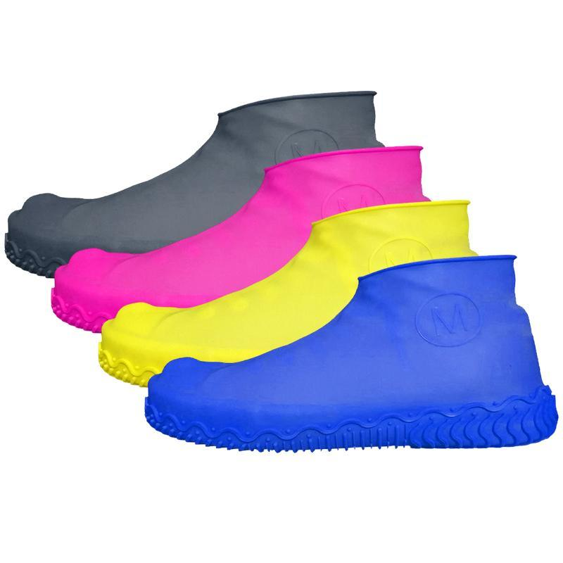 Silicone Waterproof Shoe Cover Non-Slip Rain Boots Set Reusable Rain Boots