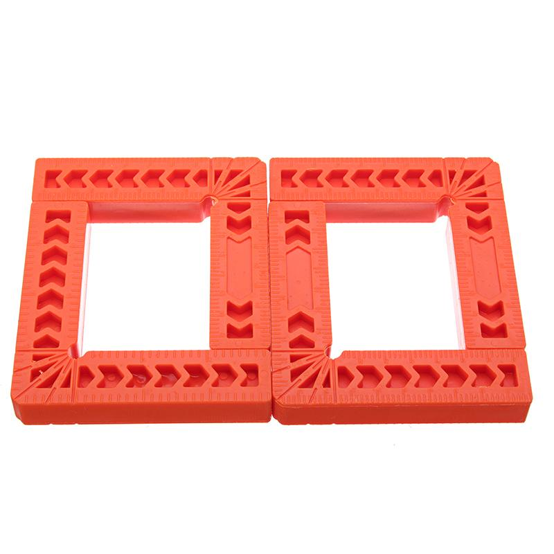 90 Degree L-Shape Corner Plastic Ruler Clamping Square Right Angle Clamps Tool