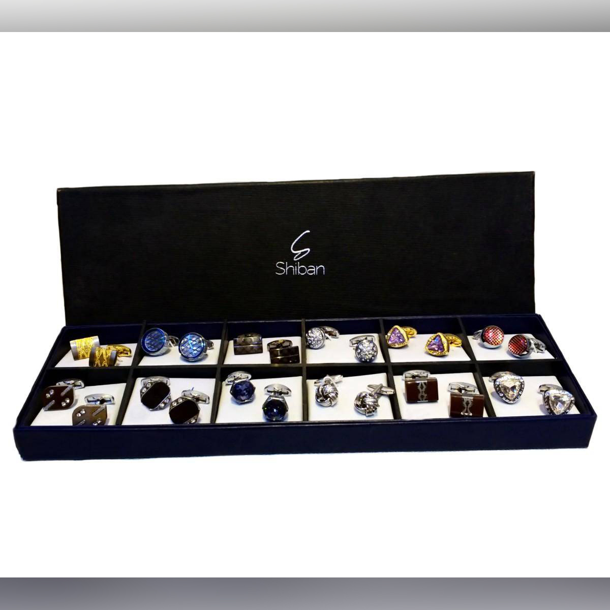 New original branded 12set Cuff Links with box