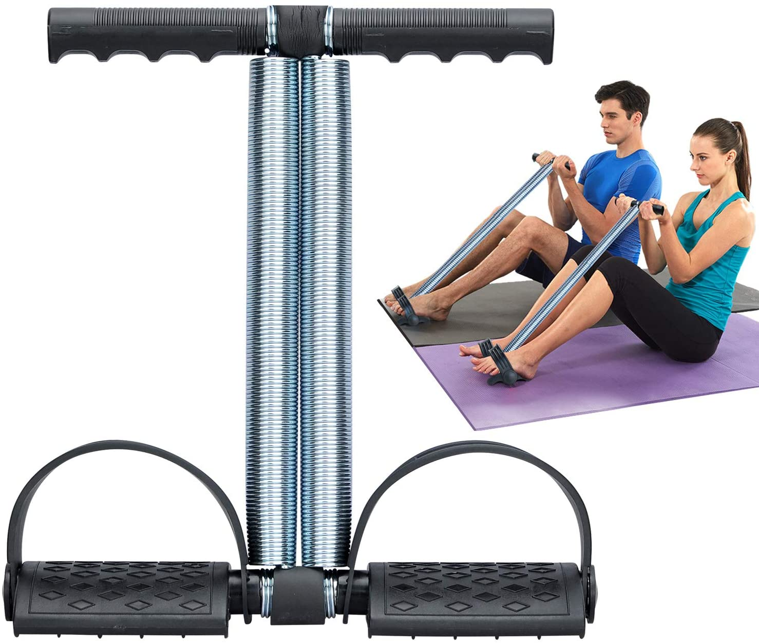 Tummy Trimmer Double Spring Belly Fat Burner Body Fitness Weight loss Home Gym For Men and Women