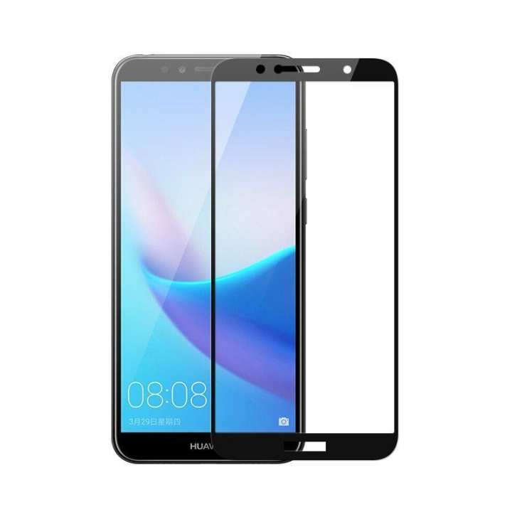 9D Glass Huawei y9 2018 Full Glue Sdge to Sdge Coverage Glass