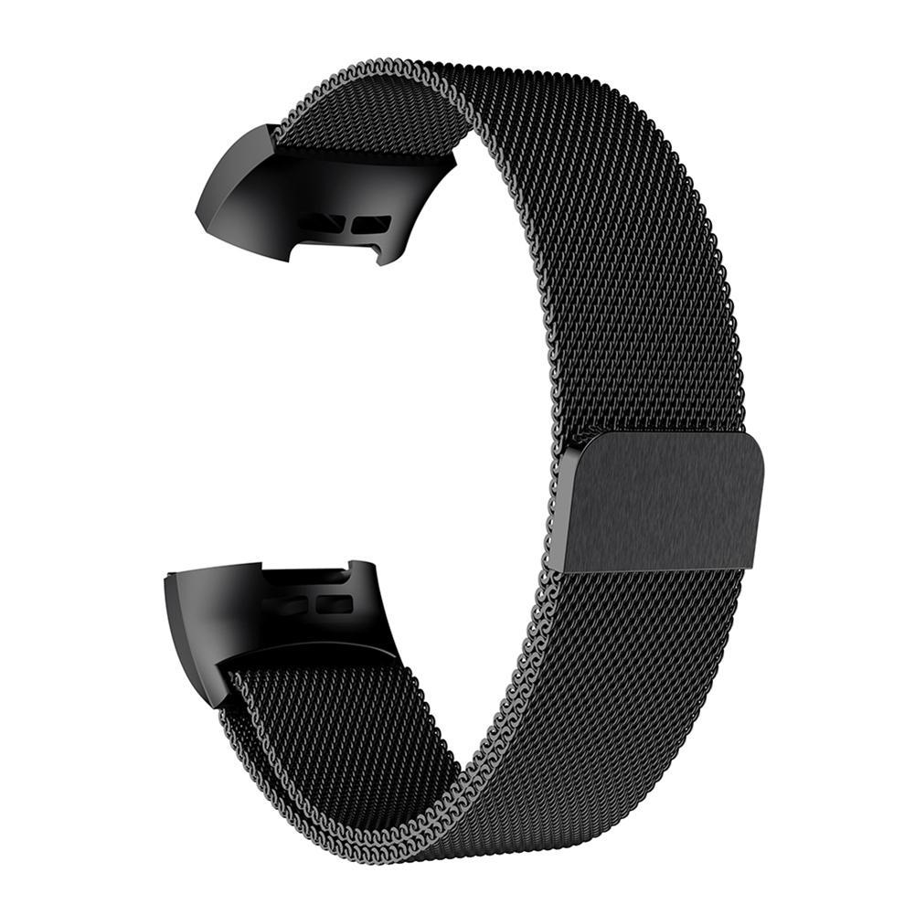 Alink Magnetic Milanese Stainless Steel Watch Band Strap for Fitbit Charge  3 L
