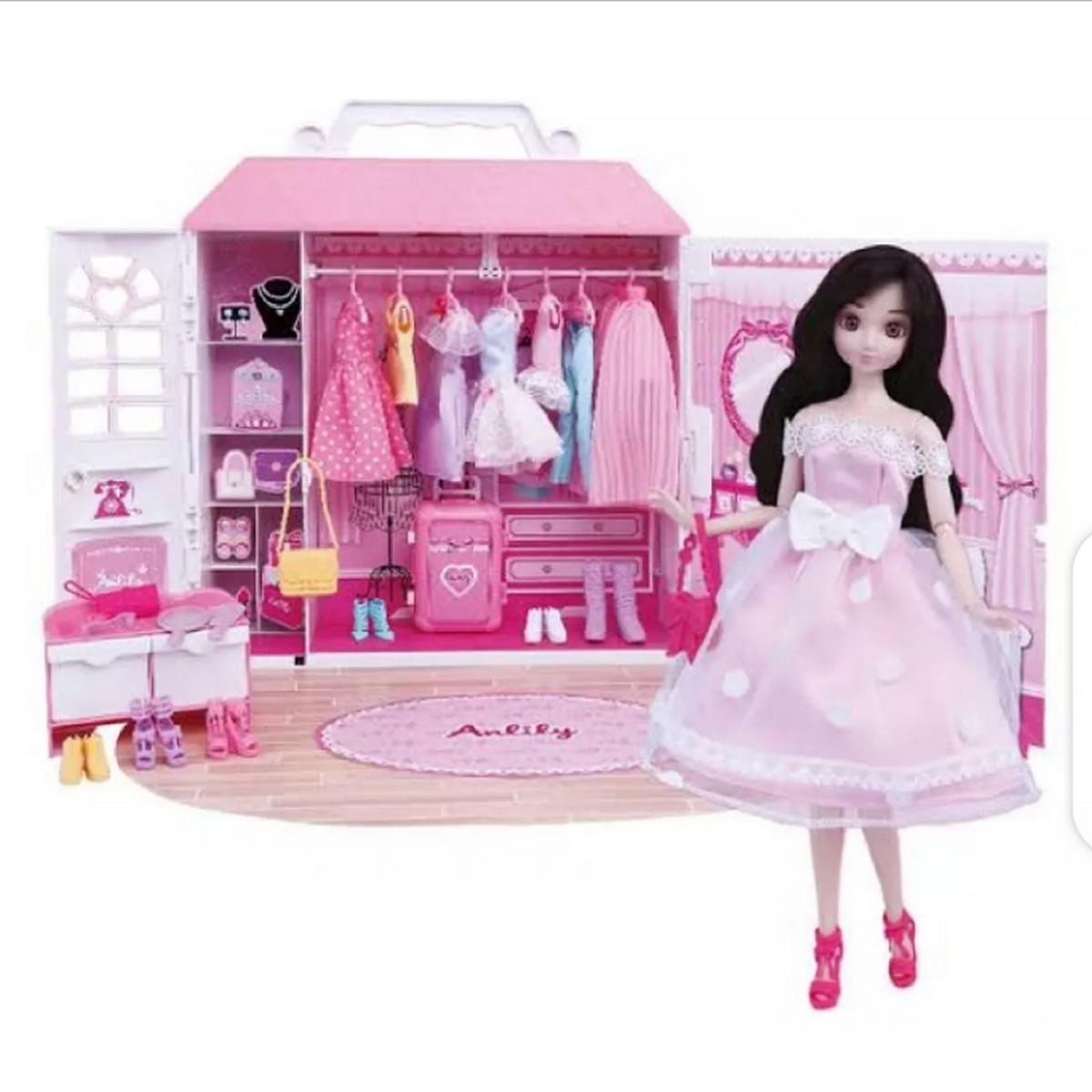 Lovely Girl Doll | Barbiee Fashionistas Ultimate Closet Doll And Accessories |Doll Wardrobe Playset Toy For Girls