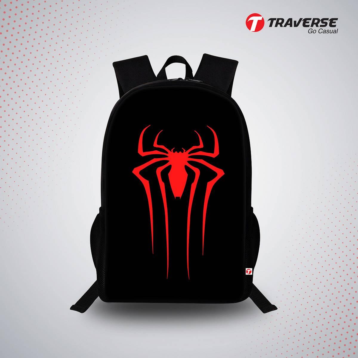 Spider Man Emblem Digital Print Backpack