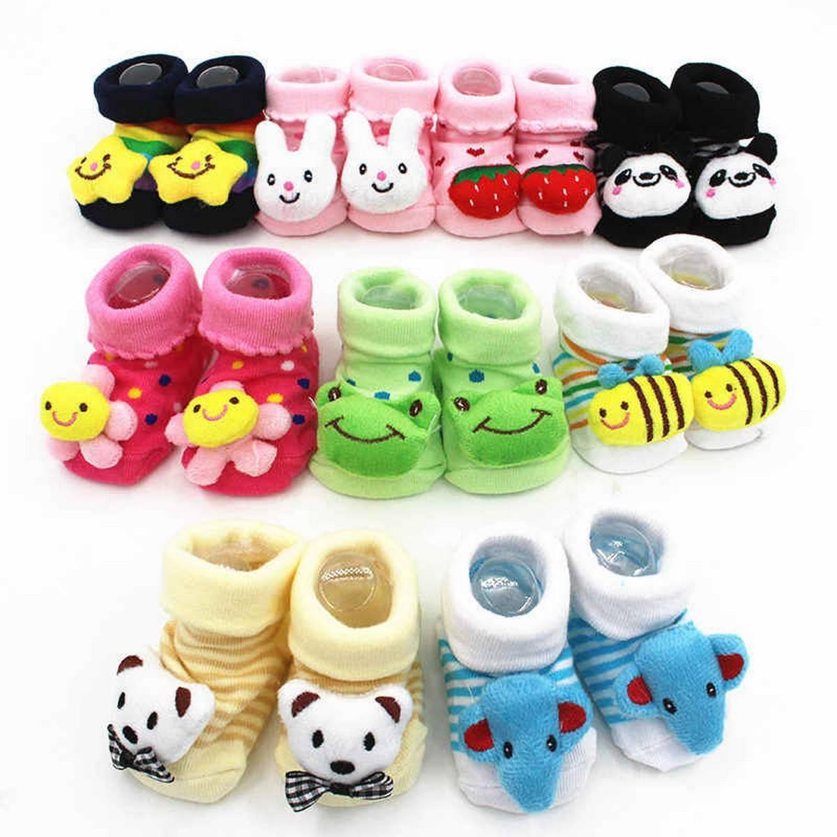 Winter  Cute Newborn Lovely Girls  Boys  Anti-Slip Socks Child Slipper shoes Baby Boots