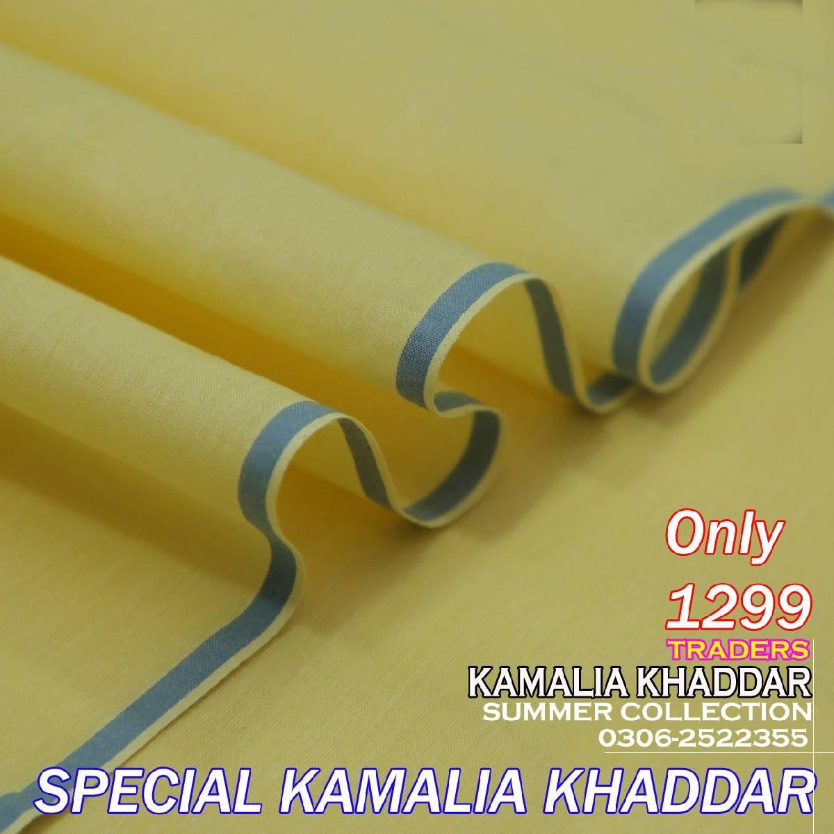 Summer Collection Kamalia Khaddar Unstitched Goli Khaddar Suit for Men - Premium Quality