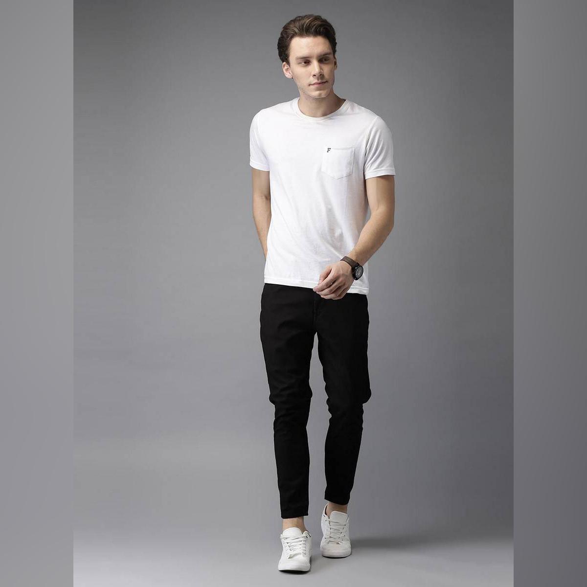 Jet Black Stretchable Jeans