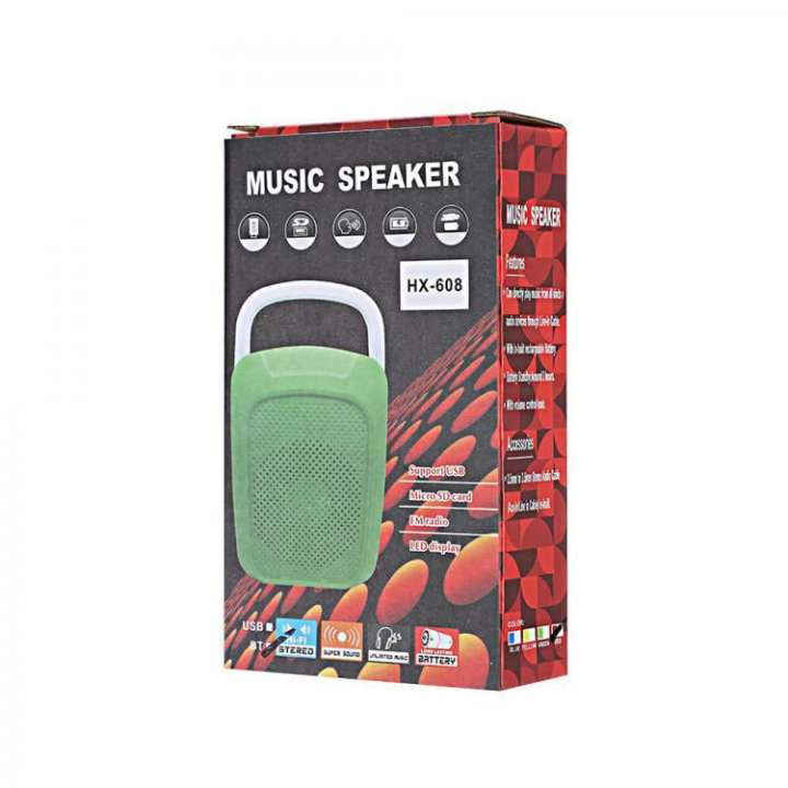 HX-608 Music Speaker USB/TF/Bluetooth/FM - MP3 Music Speaker Super Bass Sound - Daraz Sale