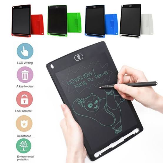 Kids Educational Toys Learning Toys Gadgets LCD Writing Portable Doodle Drawing Tablet Pad For Kids & Adults - 8.5 inch - Monochrome