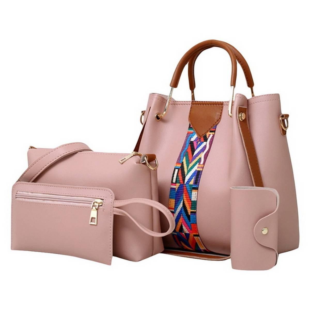2021 Medium 4 Pcs Leather Hand Bag Set
