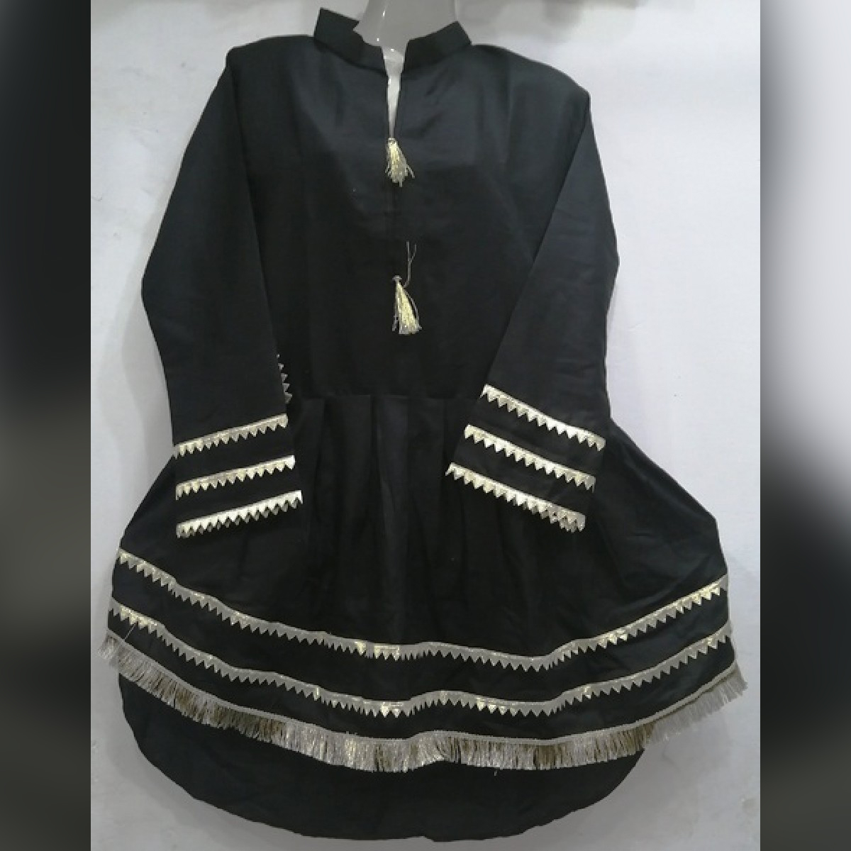 Stylish Top Lawn Long Tail Gota Ladies Frock Ready to Wear for Girls and Women