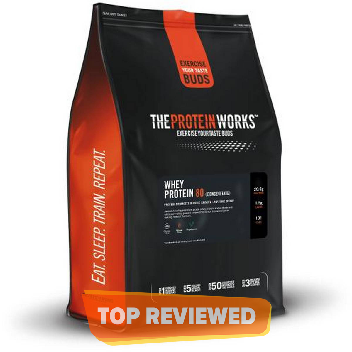 The Protein Works Whey Protein 80 - 1 kg (2.2 lbs) - Strawberries 'n' Cream
