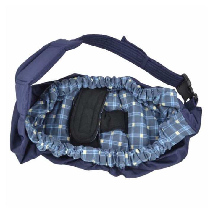 VETECH -  Baby Sling Newborn Wrap Baby Carrier Backpack Breastfeeding Bag(Blue Plaid)