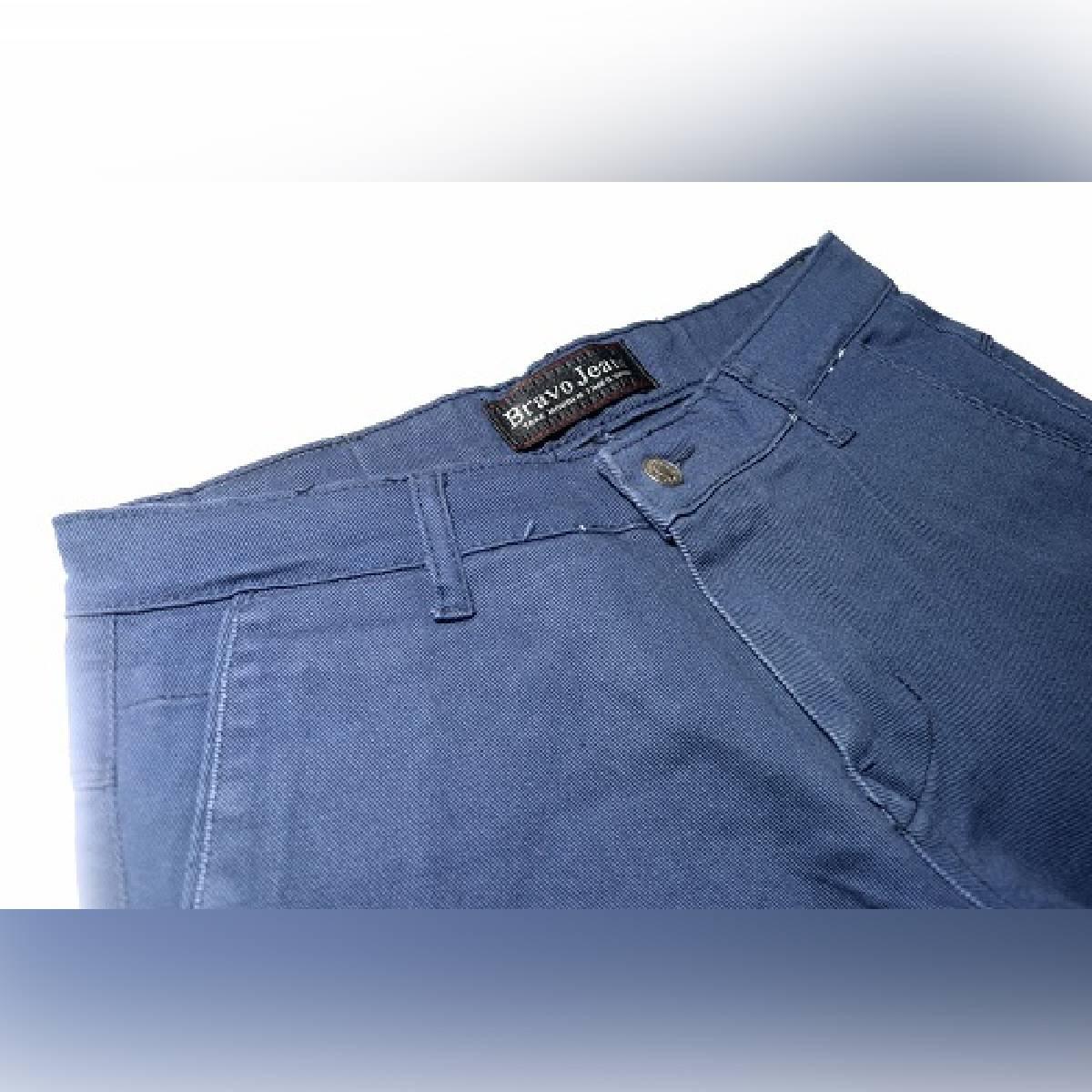 New Blue Cotton Jeans For Men