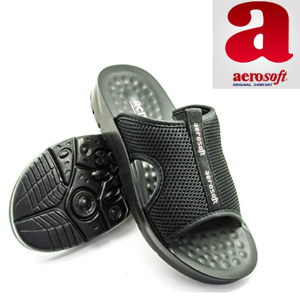 Original Aerosofts Comfortable Soft Stylish Leather Slippers For Men A5103