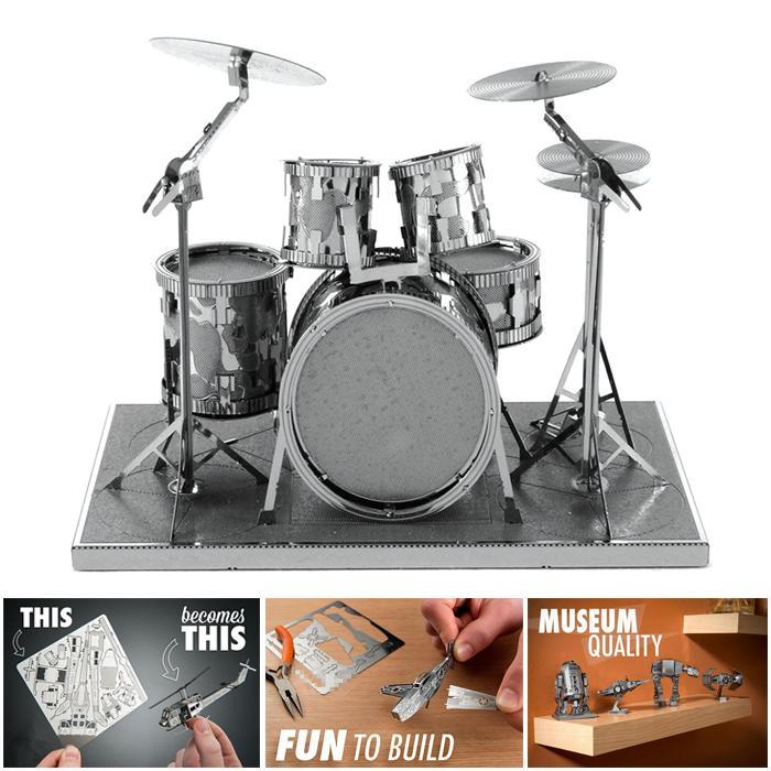 Drum Set DIY Metal Model - Unassembled