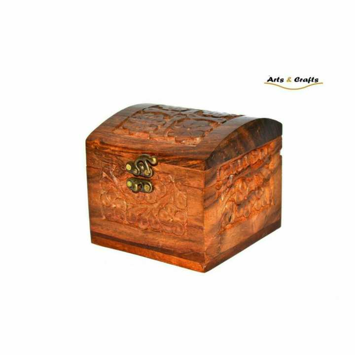 Wooden  Jewellery Box Hand Crafted