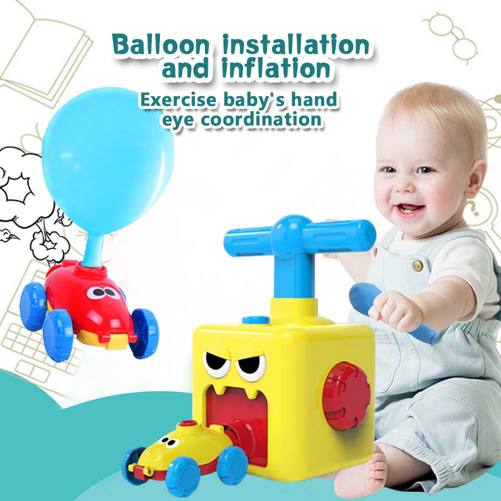Children Balloon Car Inertia Power Educational Toys Science Teach Kids Fun Baby 1-3 Years Old