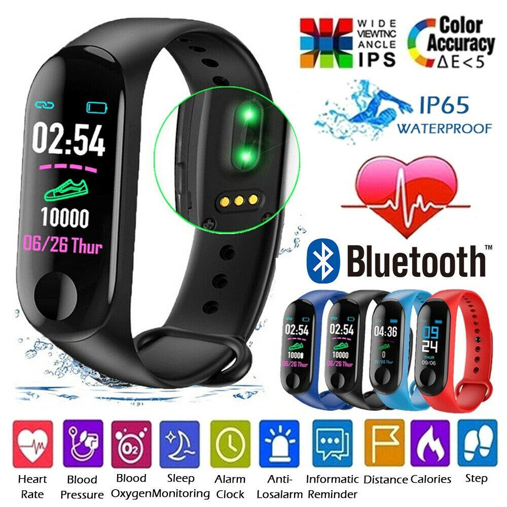 Smart Band M3 Plus, M3 Smart Watch Fitness Activity Tracker Smart Bracelet Pedometer Wrist band Heart Rate Monitor Smart Watch Men Women Smartwatch Compatible for All Androids and iOS Phone/Tablet Xiaomi PK MI Band 3