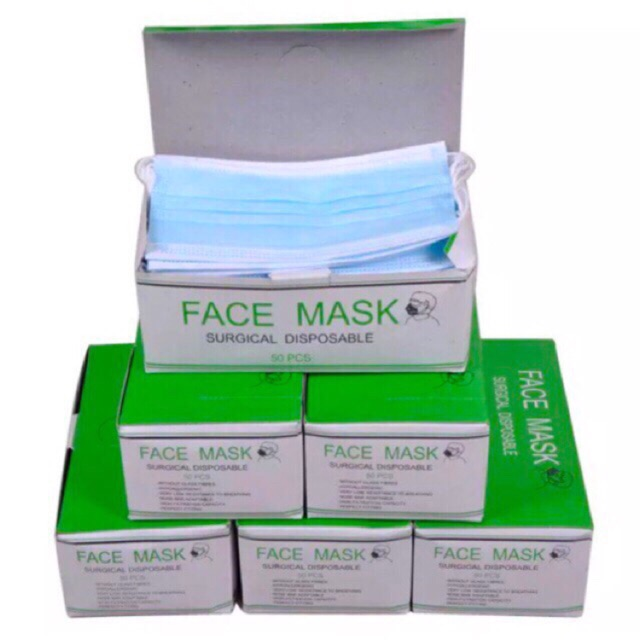 Protection Pack Disposable of 50 with Nose Tip Shaping 3 layers_mask