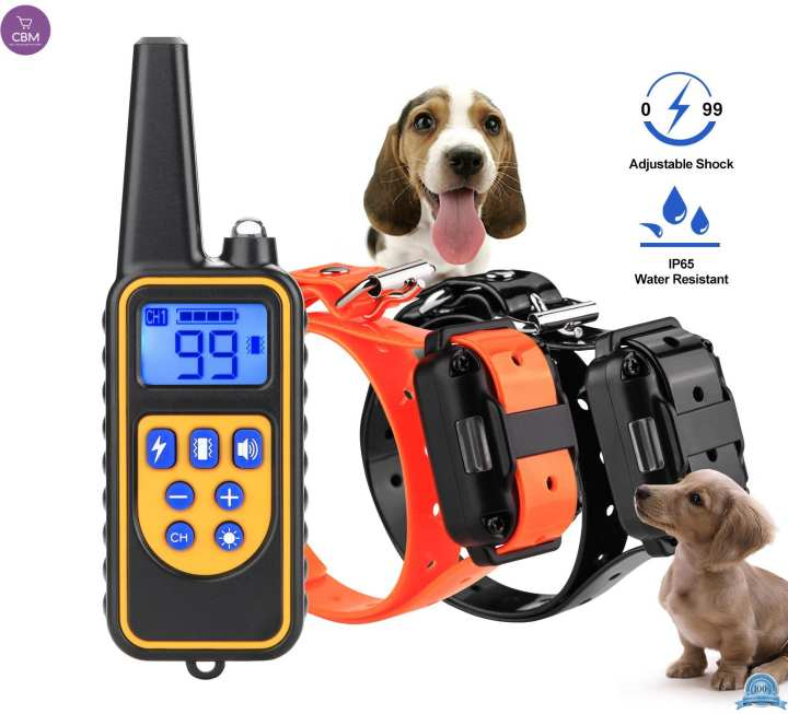 Dog - Shock Collar- With Remote Waterproof Electric For Large 875 Yard Pet Training (N)