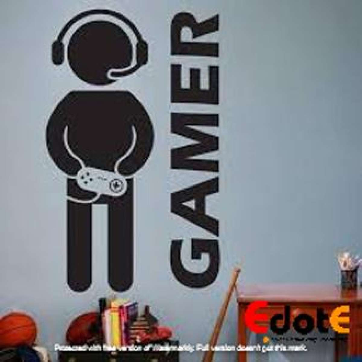 Gamer Boy games Wall Sticker wall Decoration Gamers decorations gaming
