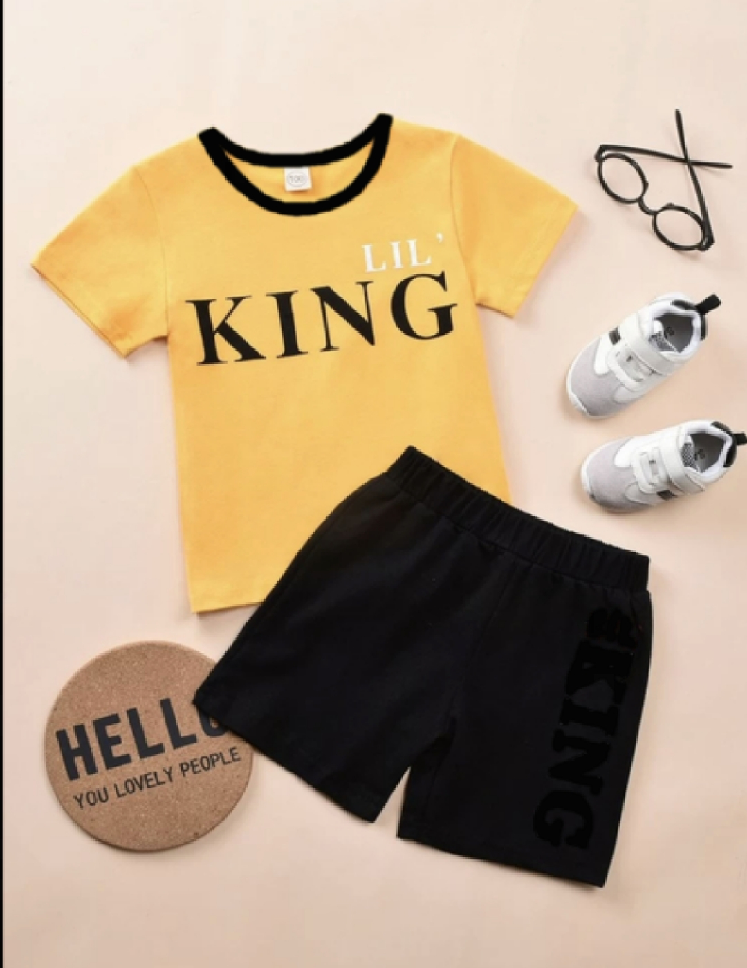 T Shirt And Shorts For Kids, Baby Boy Round Neck Short Sleeves Tee Tops Cloths Sets Dresses Outfit