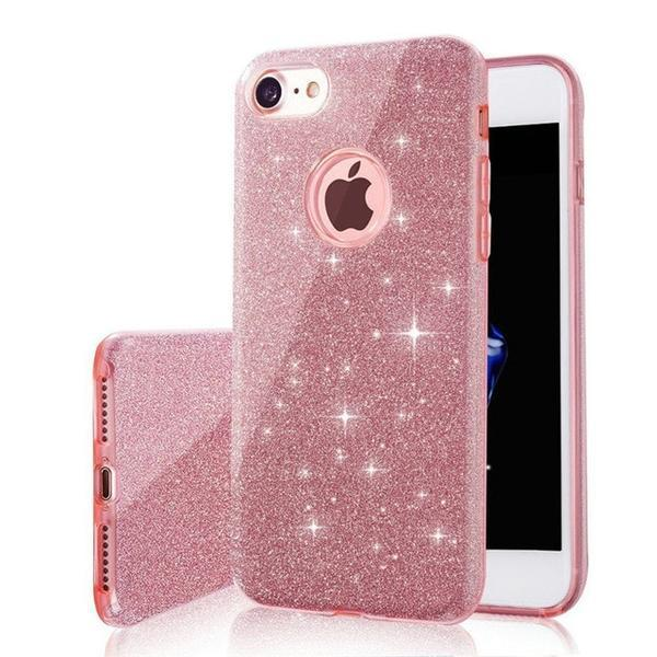 ffa94c7b6b Luxury Glitter Soft TPU Plating Back Cover Case For Apple iPhone 7 Plus  Apple iPhone 8