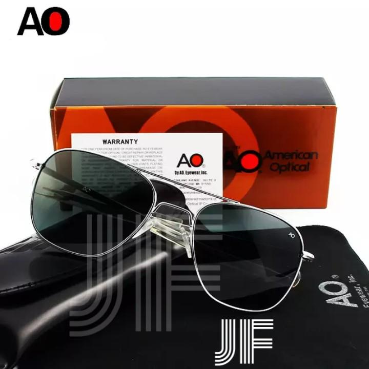 f2050ebf964 JF American Optical Pilot   Military Aviator Sunglasses (Silver Frame