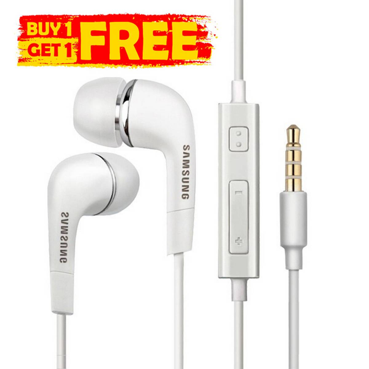 BUY 1 GET 1 FREE High Quality Acoustic Stereo Sound Handsfree In-Ear Handfree / Handsfree / Hand Free / Earphones With Microphone For All Android Mobiles